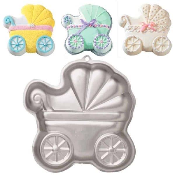 Assadeira Bolo de Carrinho de Bebê Baby Buggy Pan - Wilton
