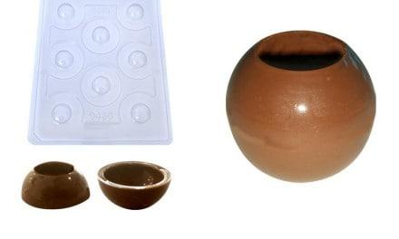 Novidade: Forma PVC com Silicone Esfera com Furo – BWB