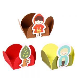 uma imagem sobre forminha de doce decorada