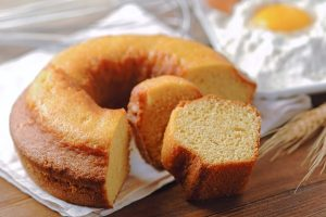 Uma imagem sobre bolo com emulsificante