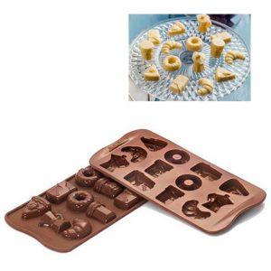 uma imagem sobre molde de silicone para chocolate