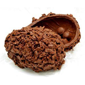 uma imagem sobre ovo de Páscoa com casca crocante