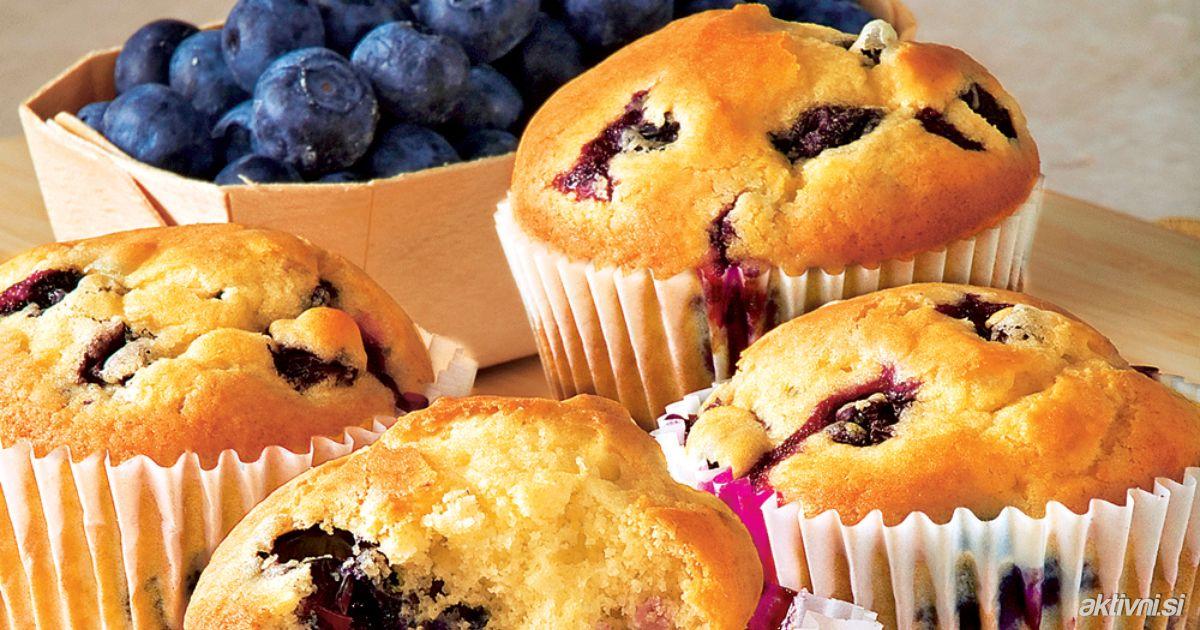 Opção para a sua dieta: muffin de frutas vermelhas sem lactose