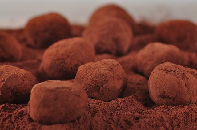 Trufas de Chocolate Originais Cobertas de Cacau